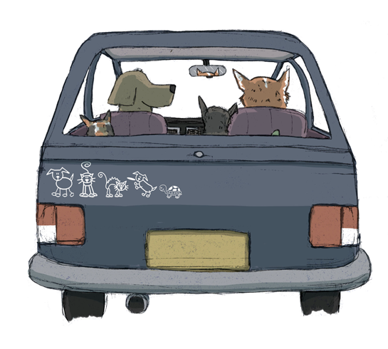 family car sticker