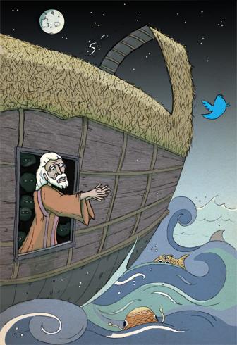 noah's tweet of peace